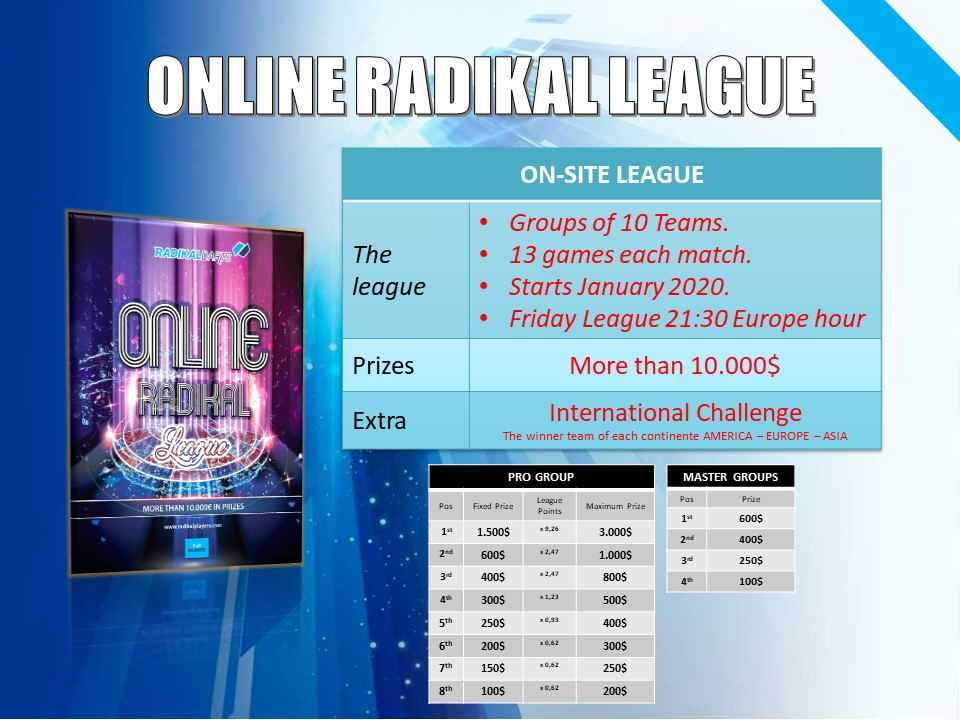 Online RadikalDarts League