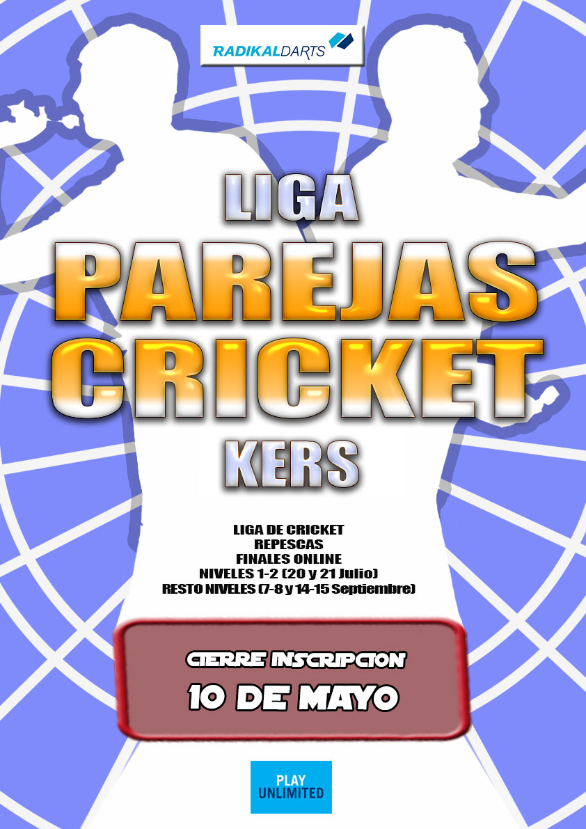Inscripcion Liga de Parejas Kers Cricket RadikalDarts