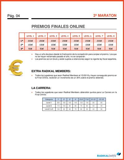 Supercampeonato RadikalDarts 2ª La Maraton con Final Online
