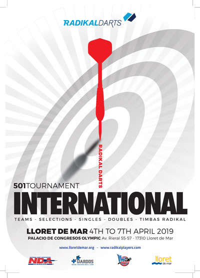 Radikal Darts International Championship from April 4 to 7 in Lloret de Mar.