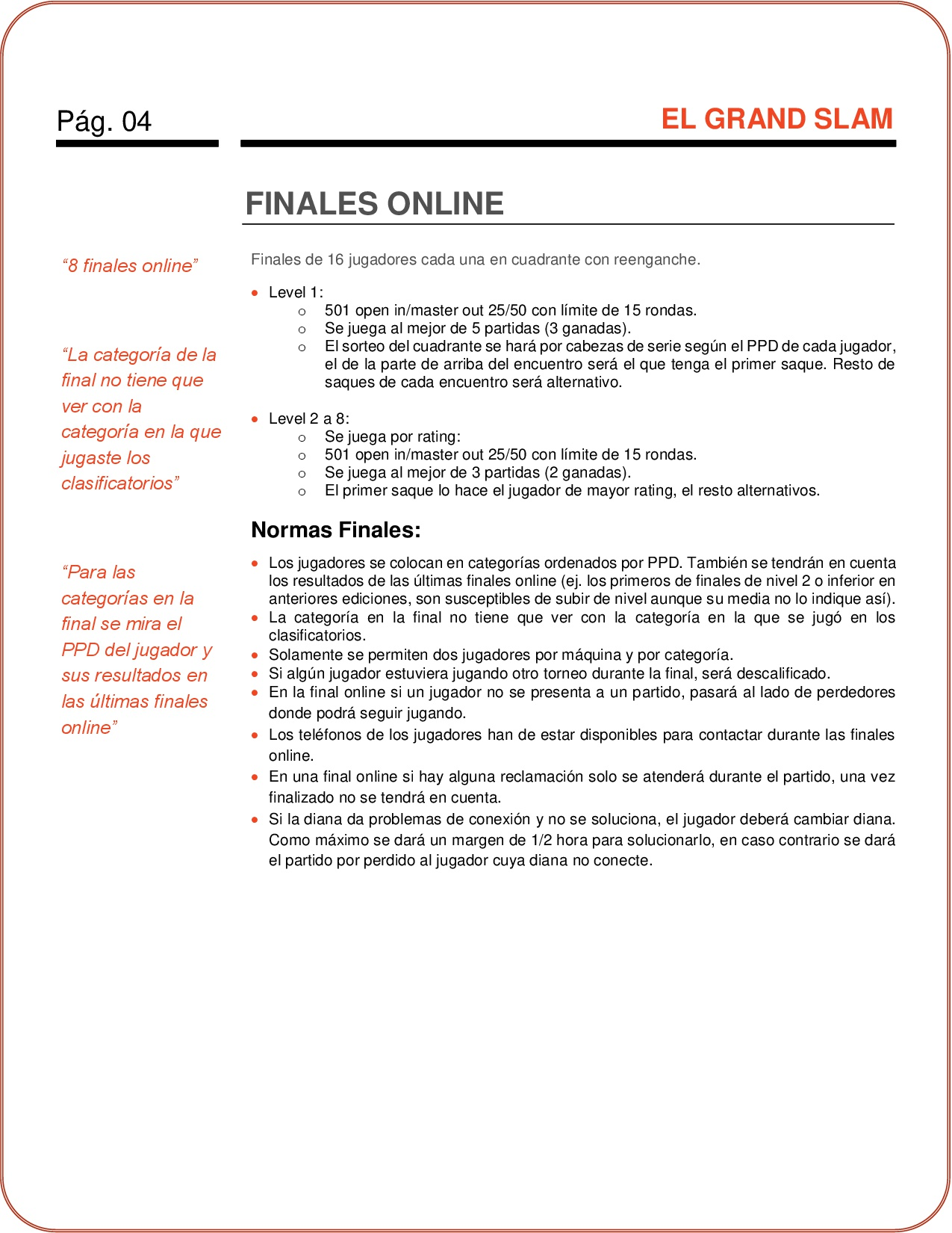 Finales de Nuevo Campeonato de dardos Online El Grand Slam de RadikalDarts