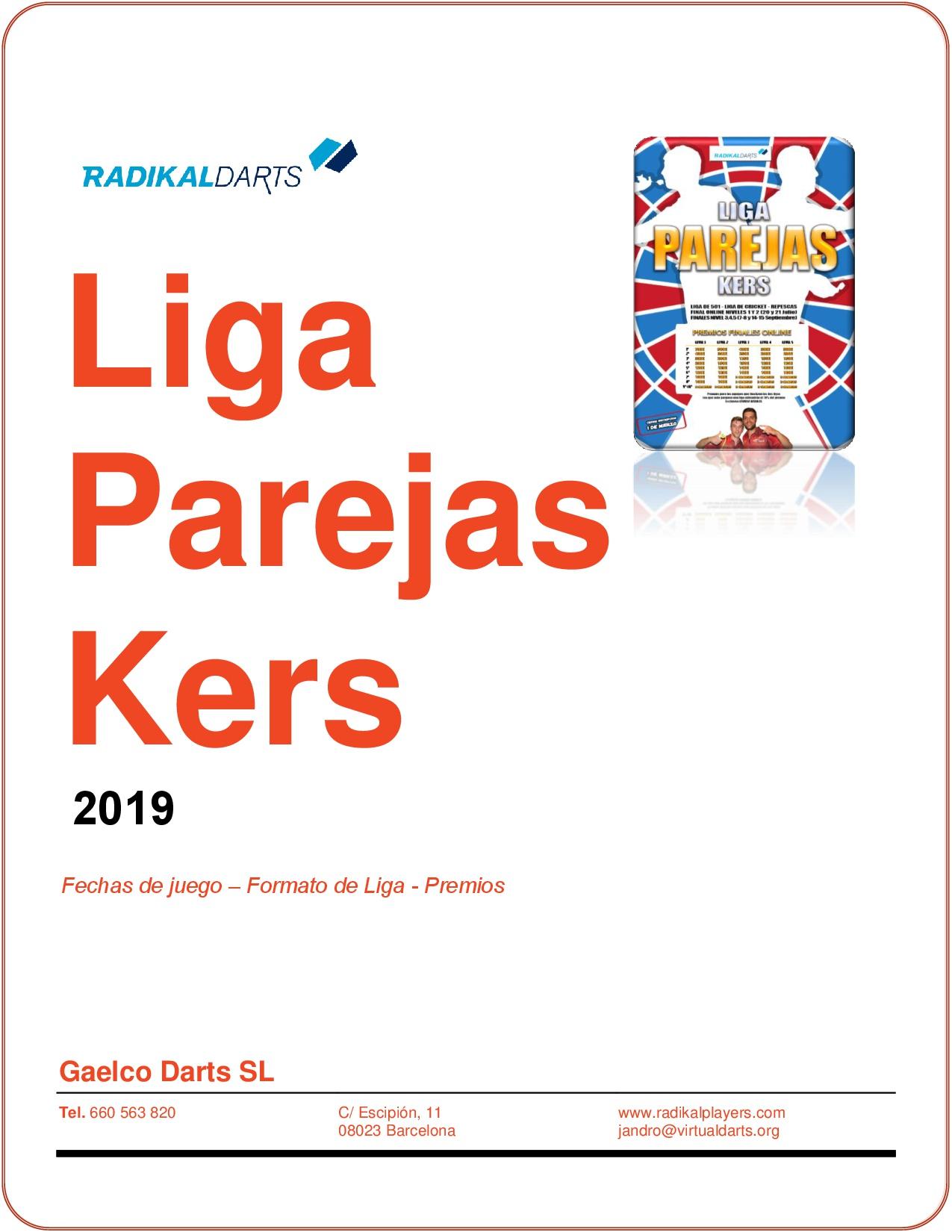 Campeonato de dardos online Liga de Parejas Kers de RadikalDarts.