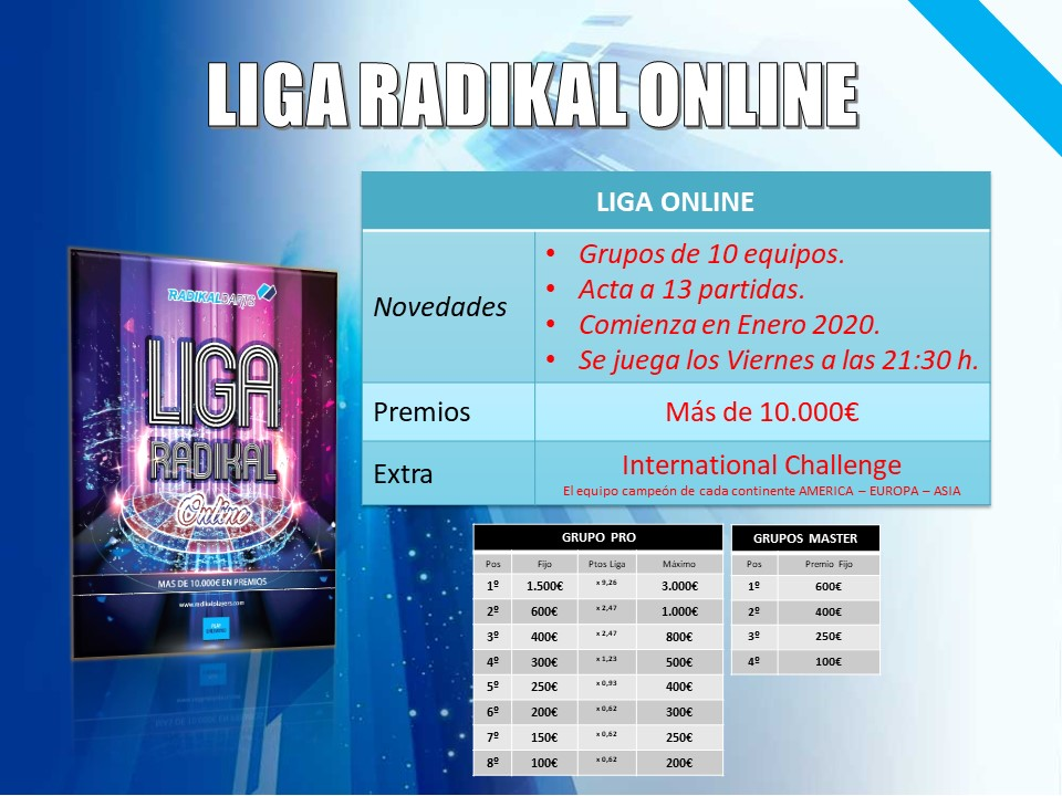 Liga Equippos Online RadikalDarts