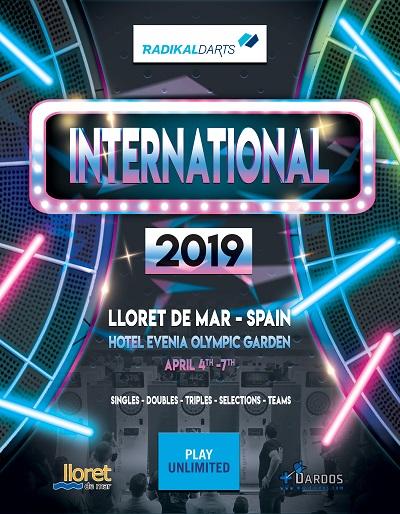 International Darts Tournament  RadikalDarts 2019 Lloret de Mar. PlayUnlimited