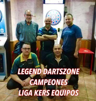 Equipo Dartszone campeon nivel 1 finales online Equipos Kers 2019