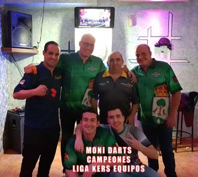Equipo Moni Darts, campeones nivel 2 finales online equipos kers