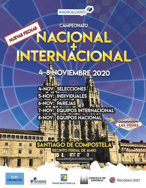 Nacional + Internacional de dardos RadikalDarts 2020 Santiago de Compostelas