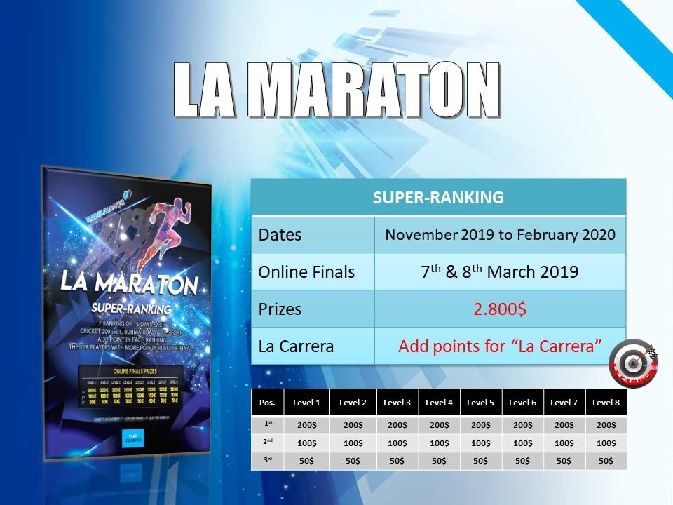 Super Ranking  RadikalDarts La Maraton