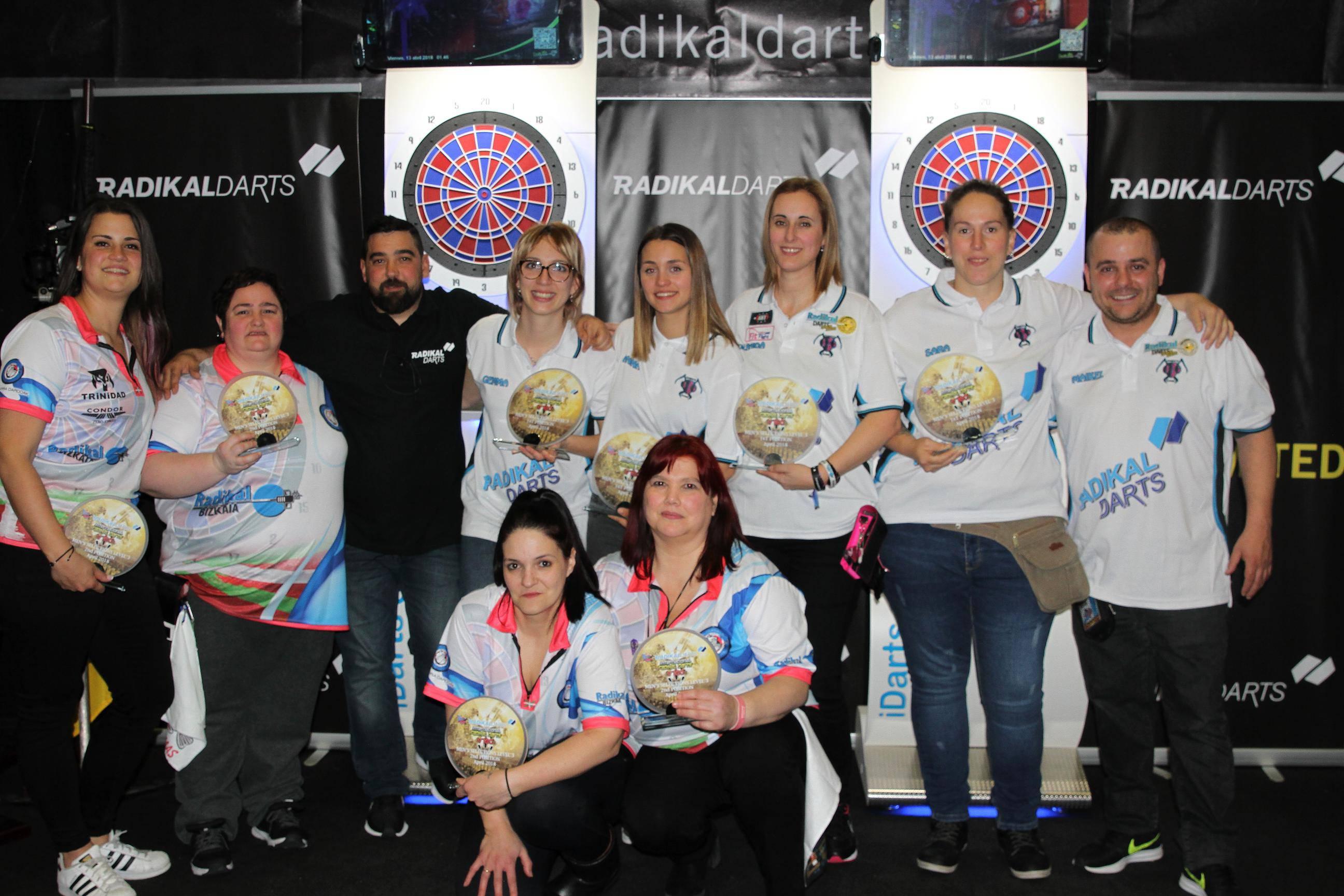 Internacional Radikal Darts Vigo 2018 Campeonas y Subcampeonas Selecciones Femenina