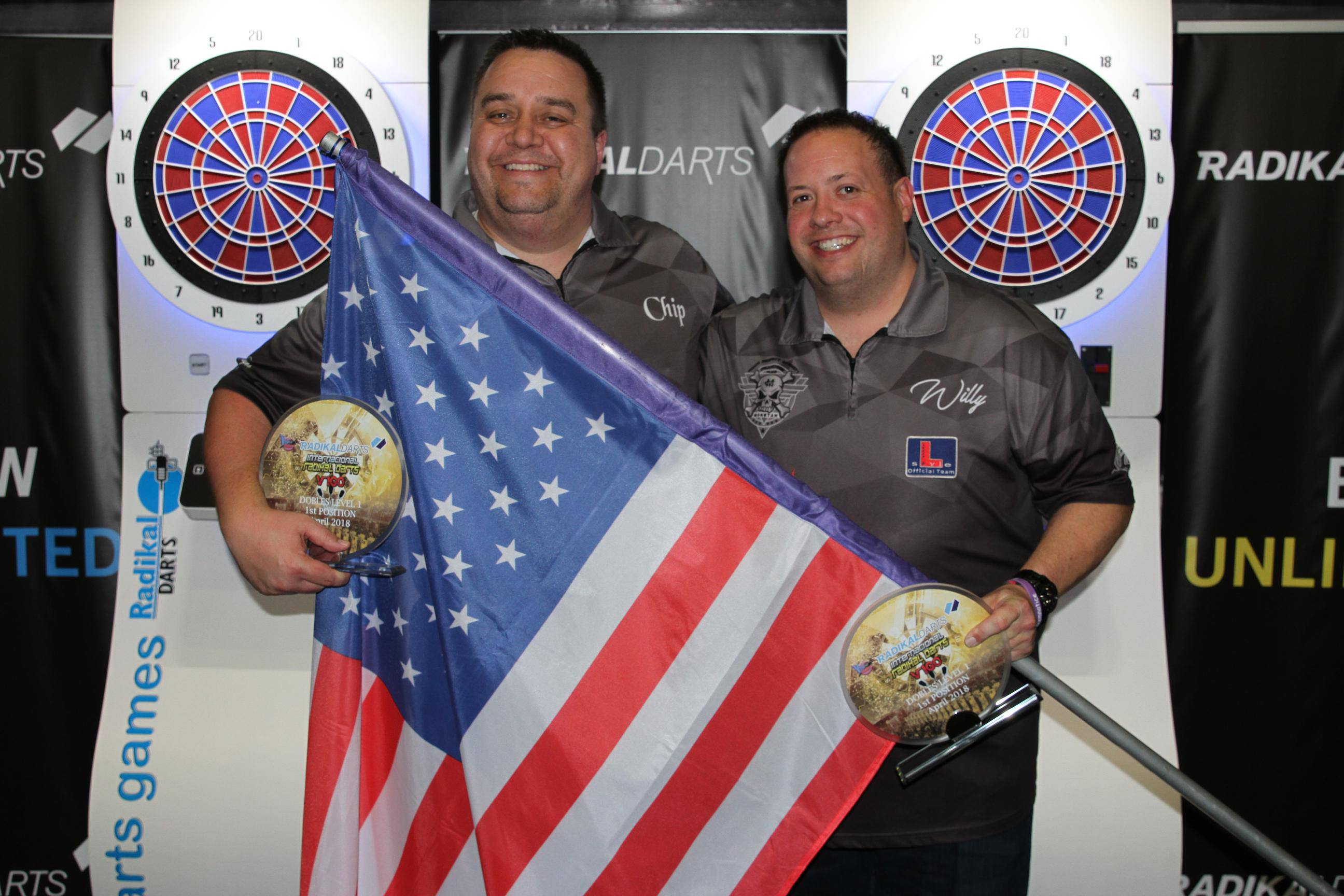 Internacional Radikal Darts 2018 Chip·Willie Campeones Parejas Nivel 1