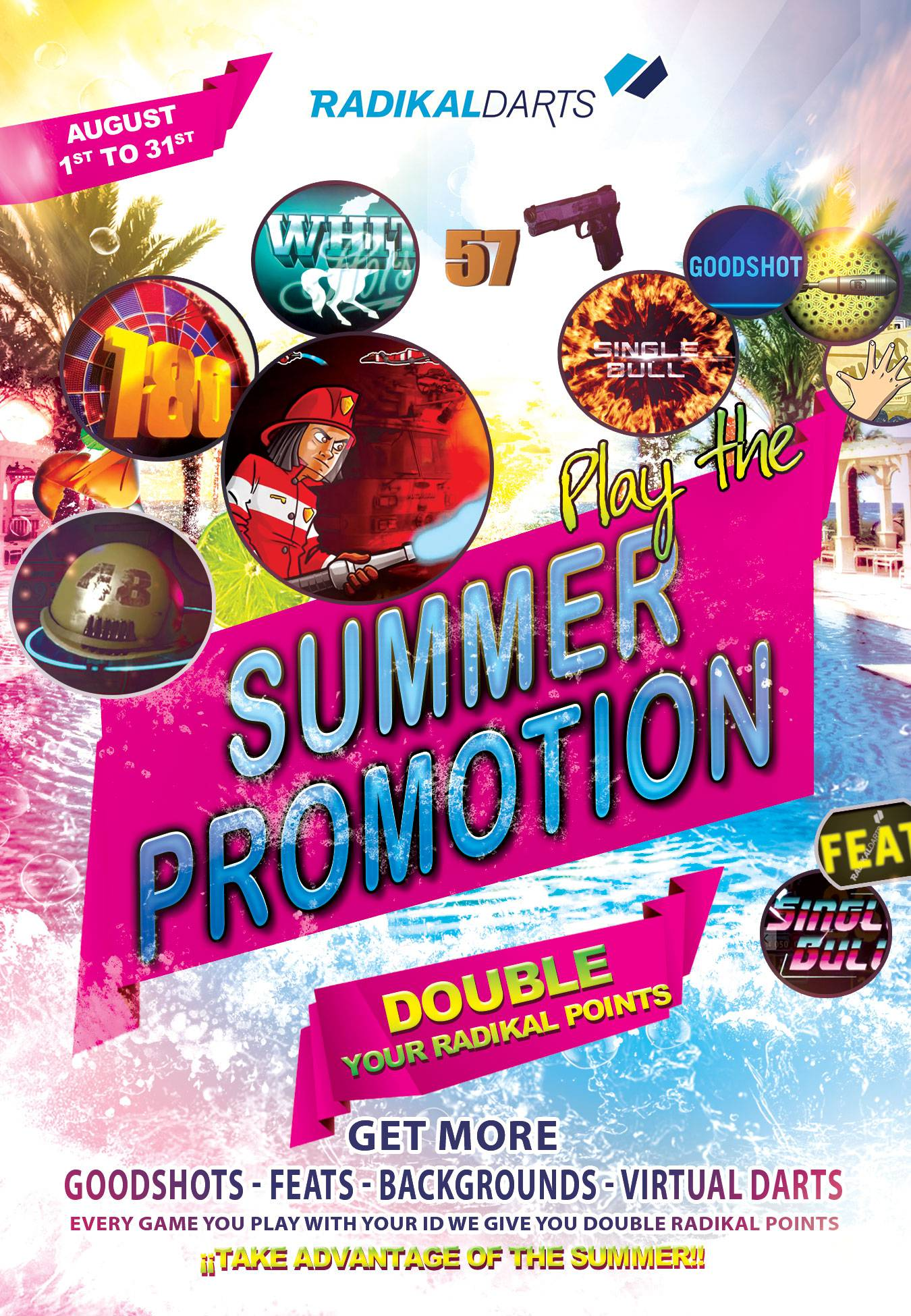 Radikal Darts Summer Promotion. Double your Radikal Darts Points
