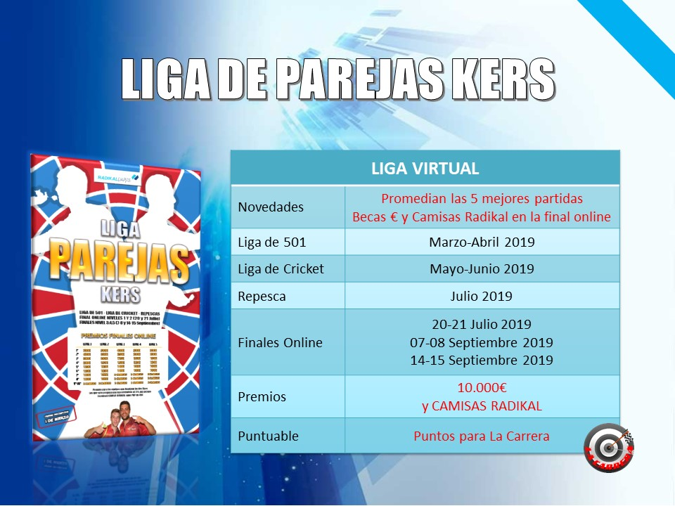 Liga Virtual RadikalDarts Parejas Kers con Final Online