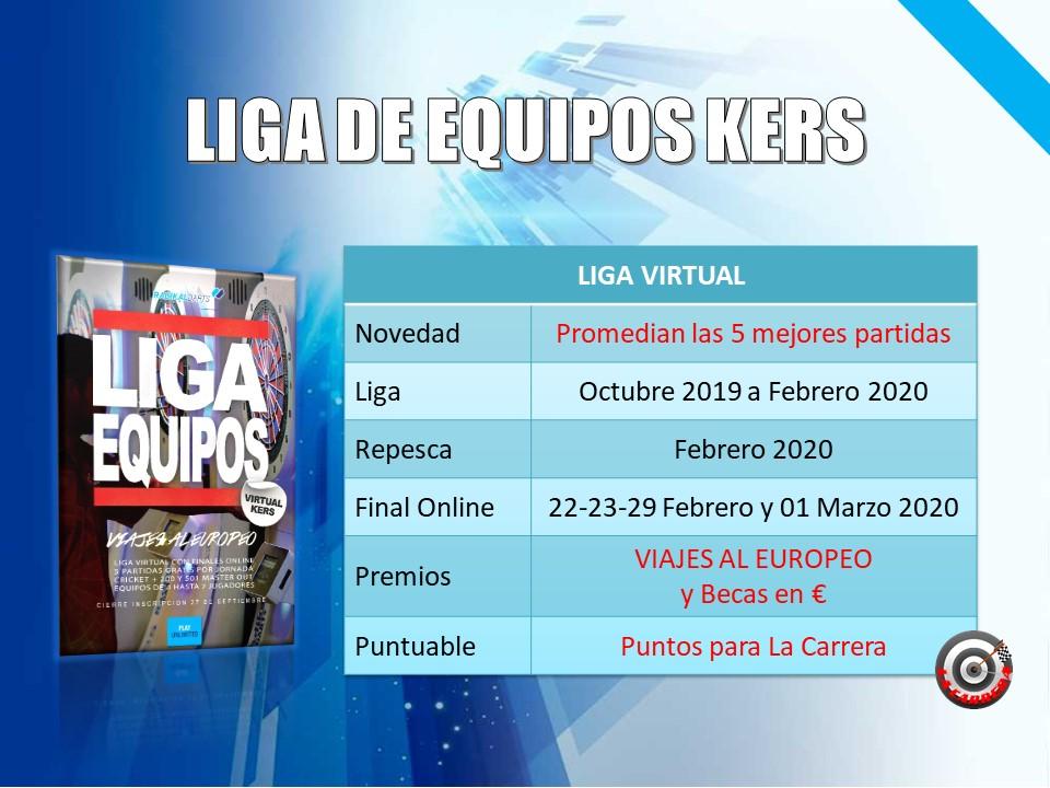 Liga  Virtual de Equipos Kers RadikalDarts con Final Online