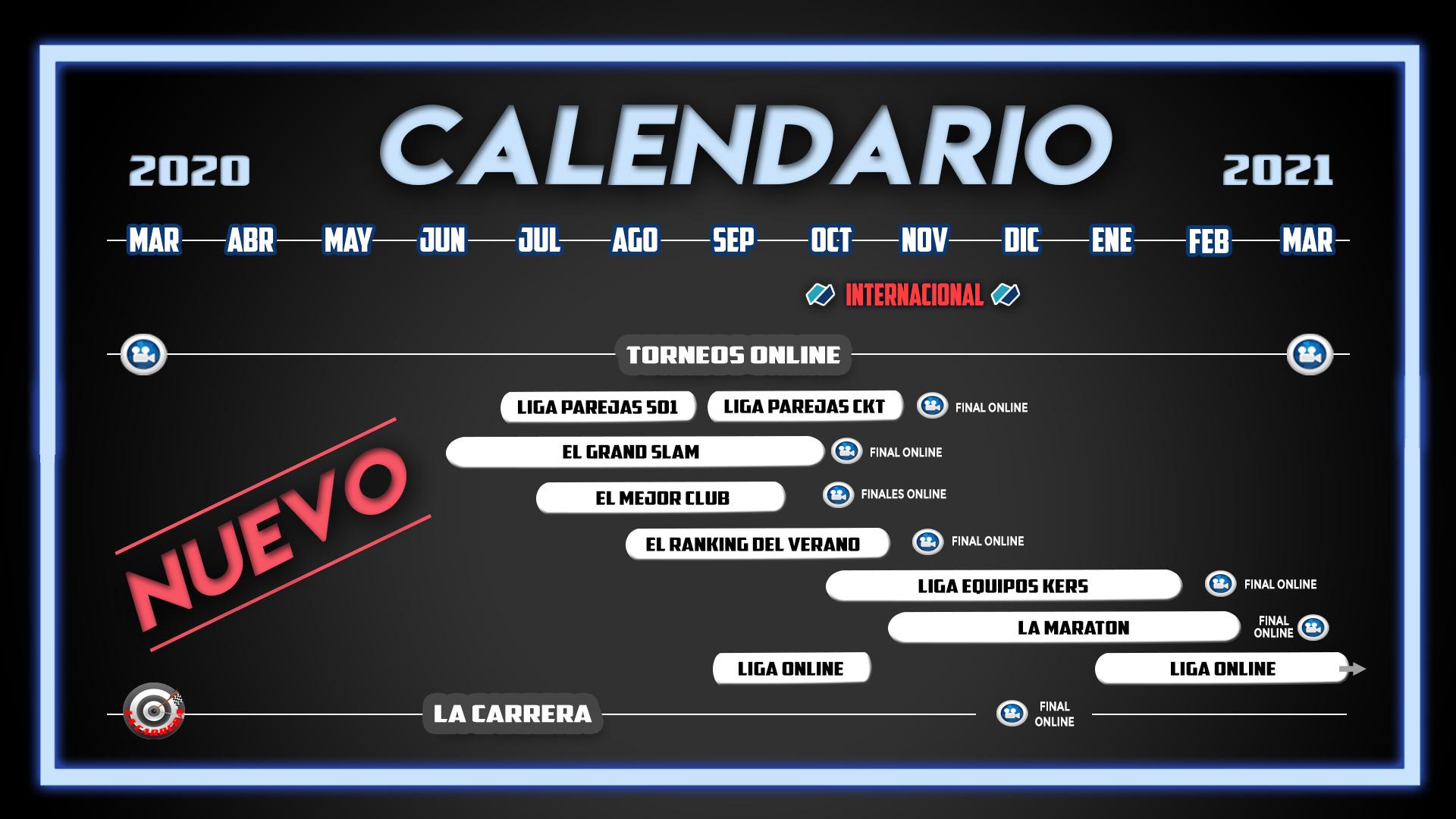 Nuevo Calendario de dardos Radikal Darts 2020