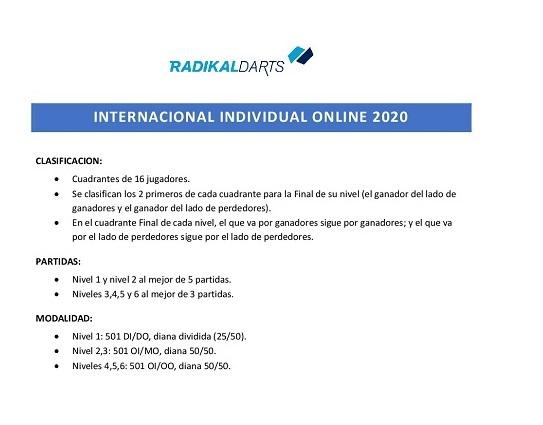 Formato de juego Internacional Online Radikal Darts